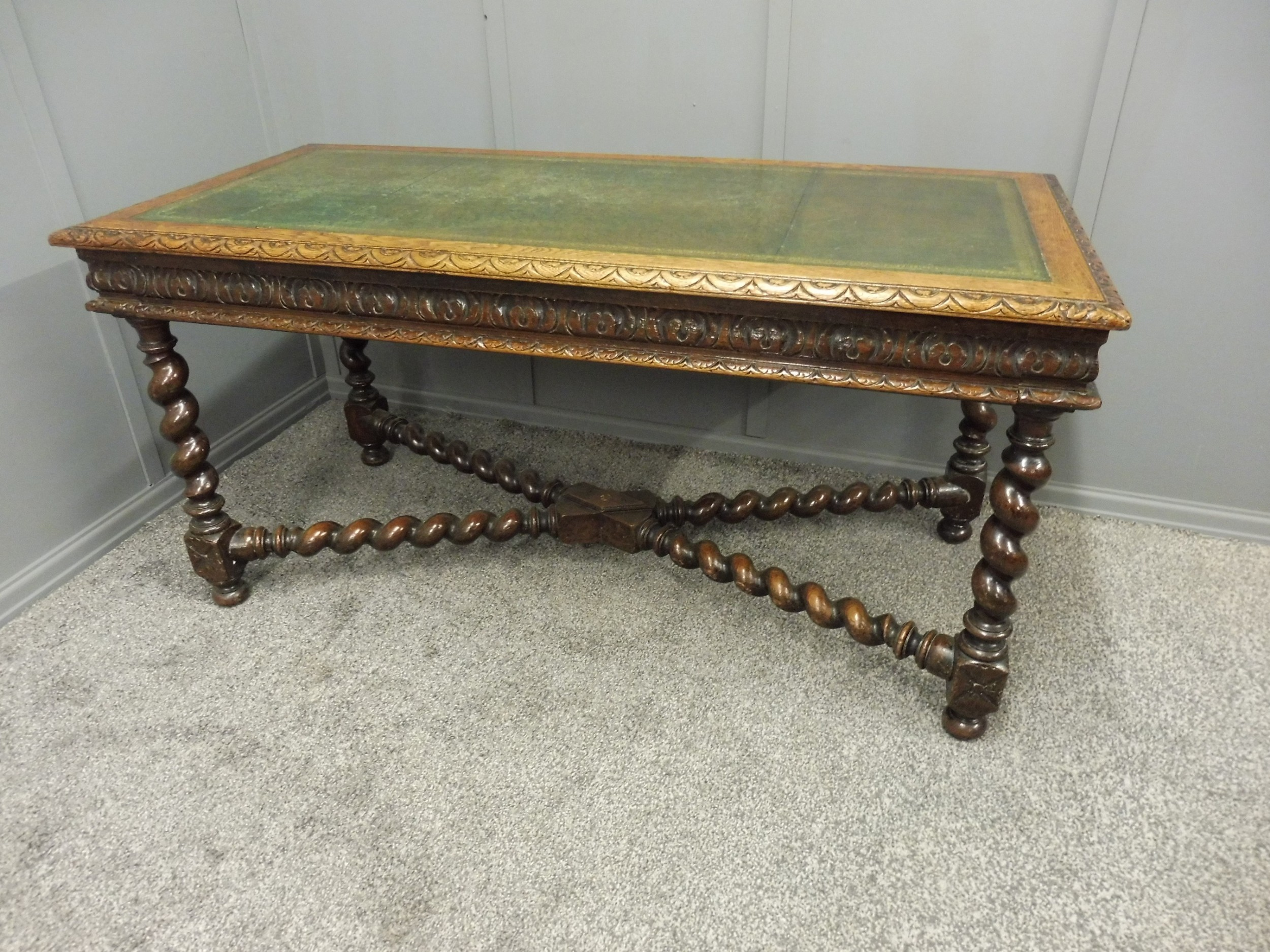 oak 19th century writing desk