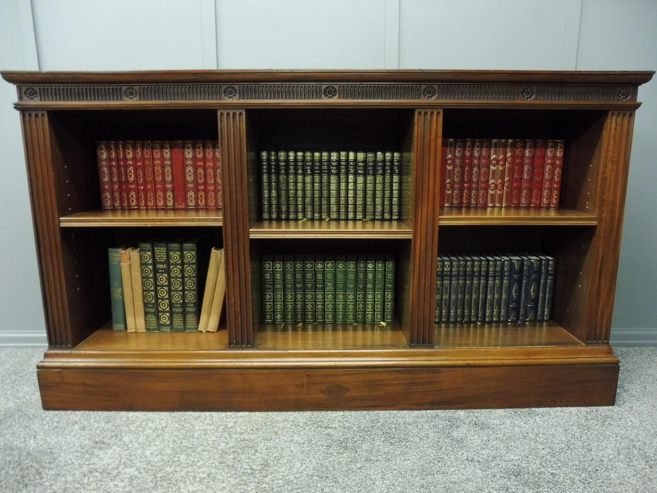 edwardian mahogany low open bookcase