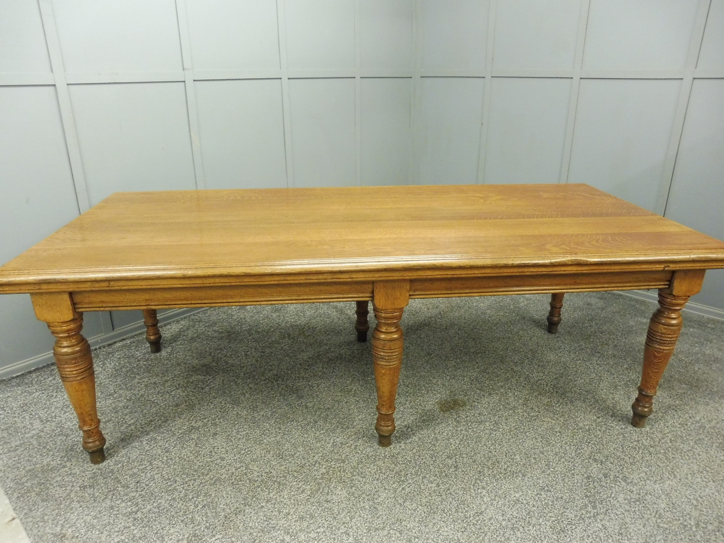 19th century school dining table