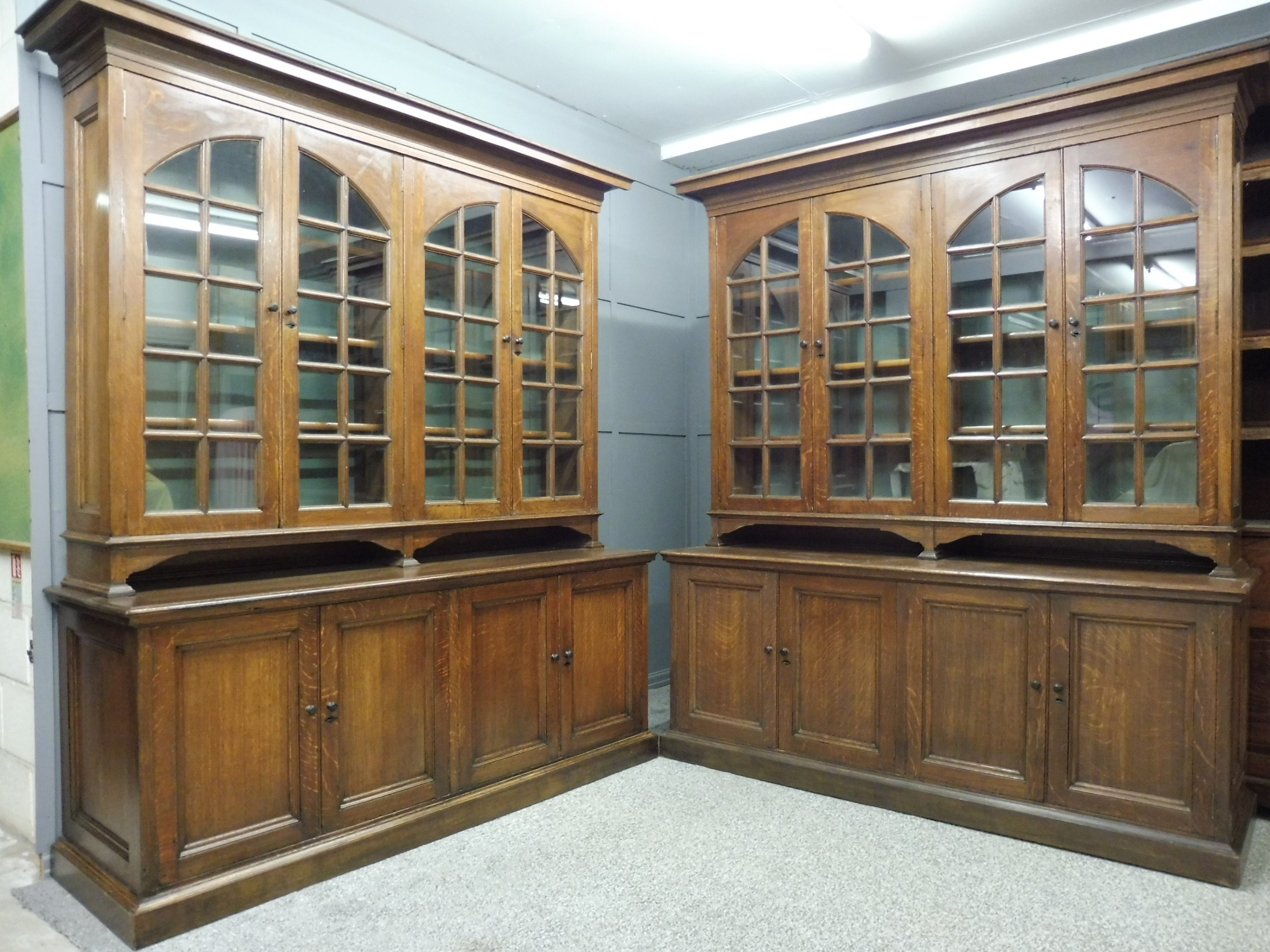 good quality pair of arts and crafts bookcases
