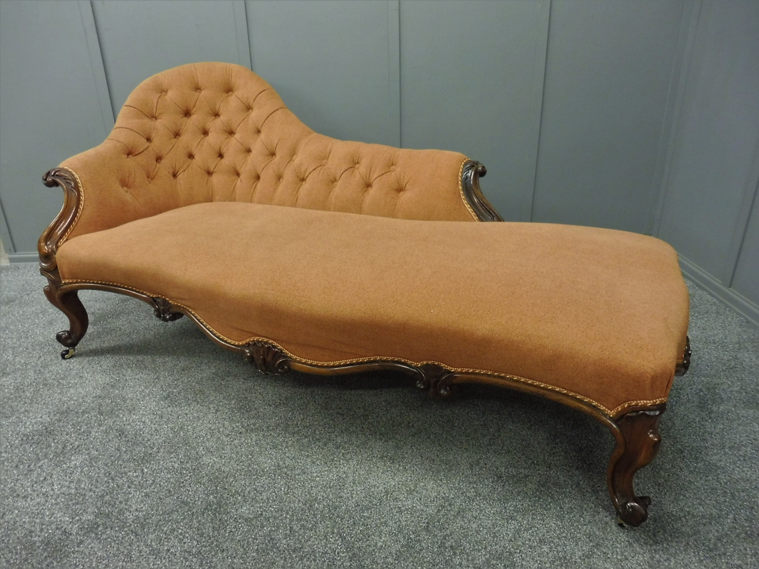 mid 19th century rosewood chaise longue