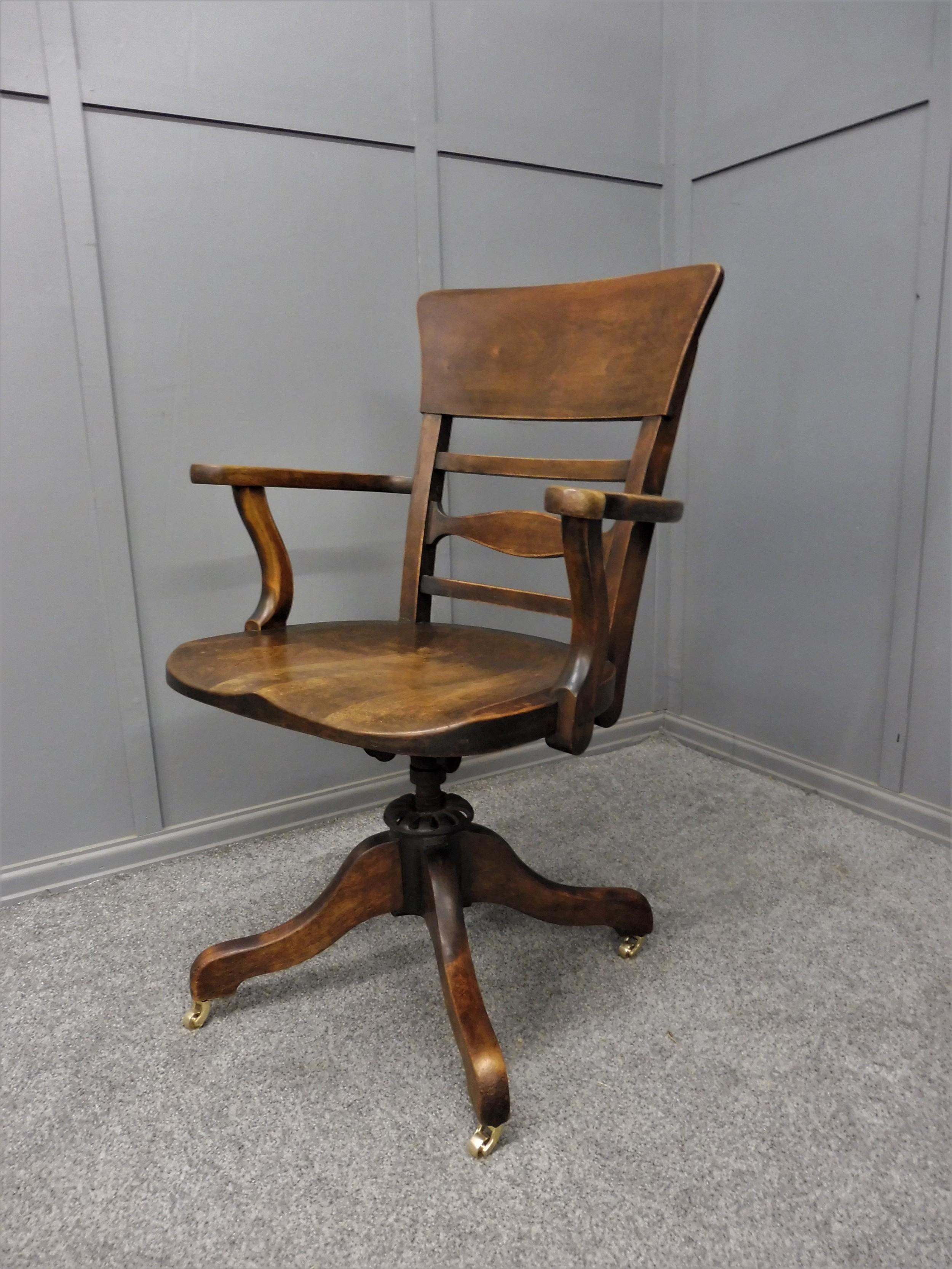 edwardian swivel officedesk chair