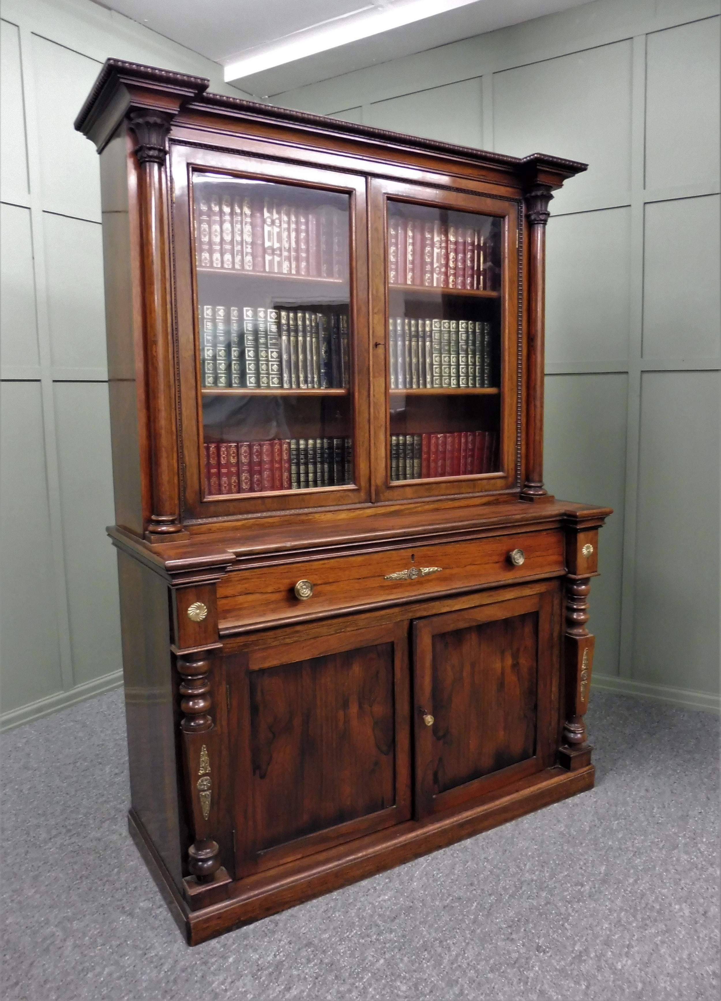 early 19th century rosewood bookcase