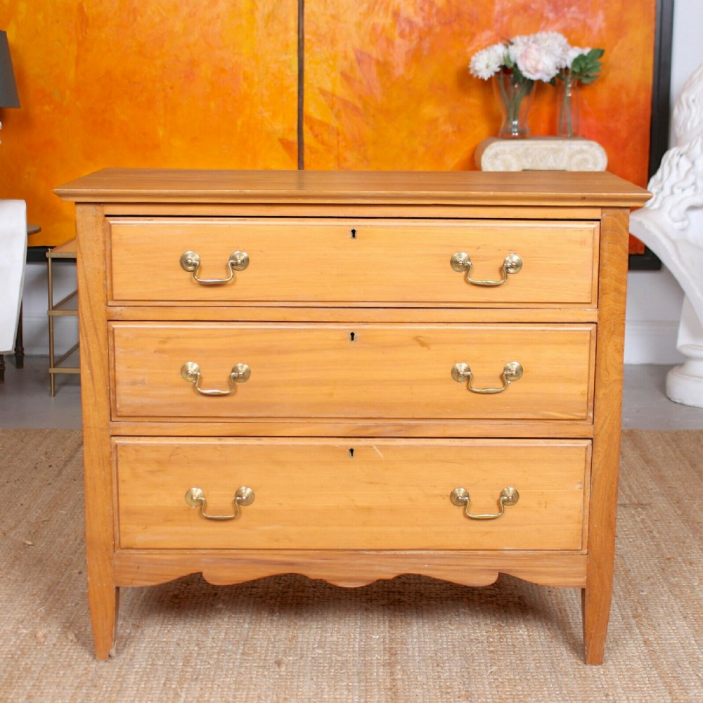 satinwood chest of drawers 19th century