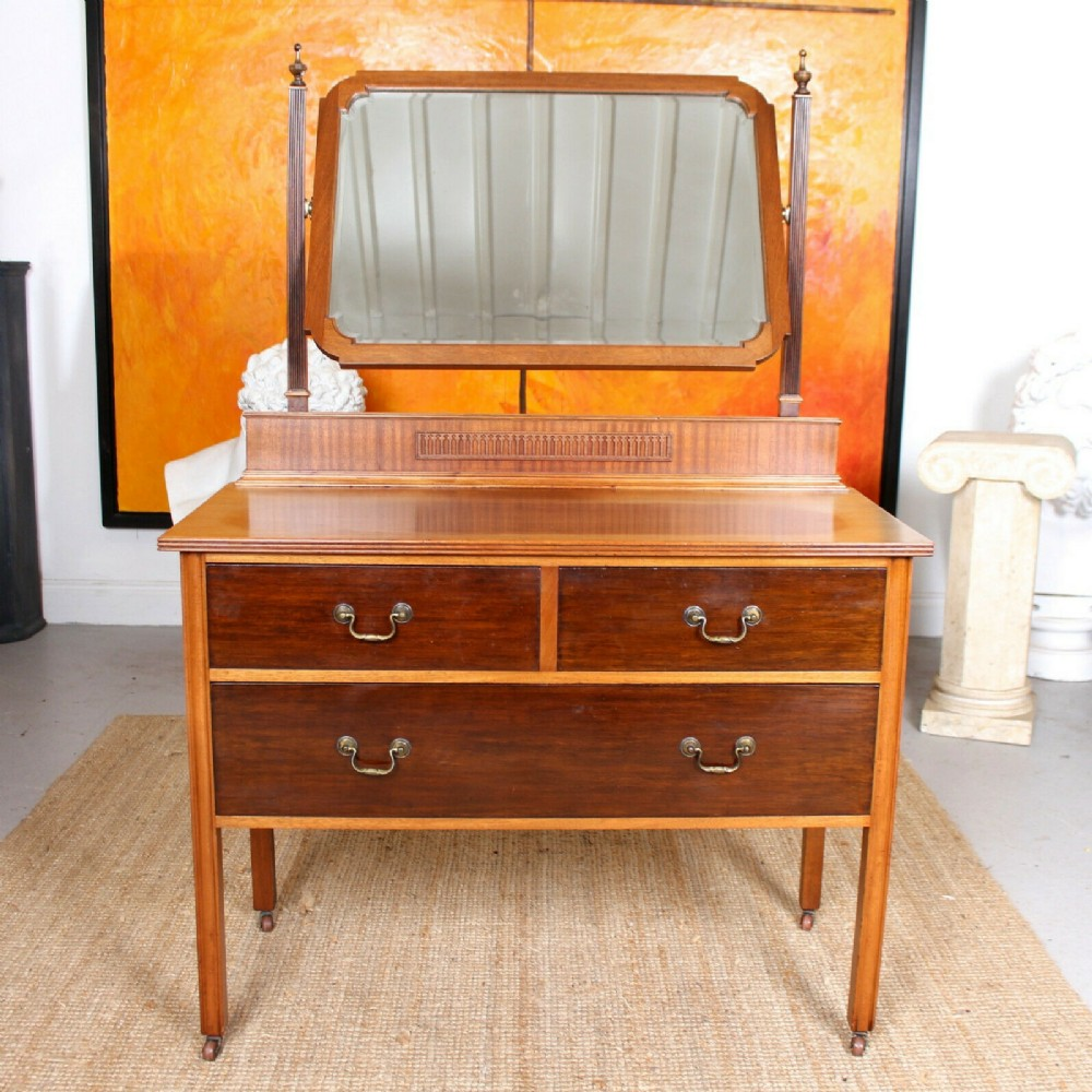 19th century mirrored dressing chest of drawers