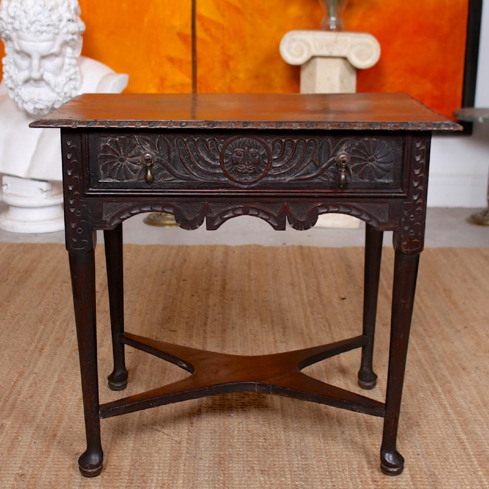 georgian oak lowboy writing table 18th century