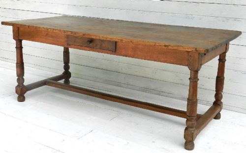 French Farmhouse Kitchen Table good late c18 french oak provincial dining table refectory