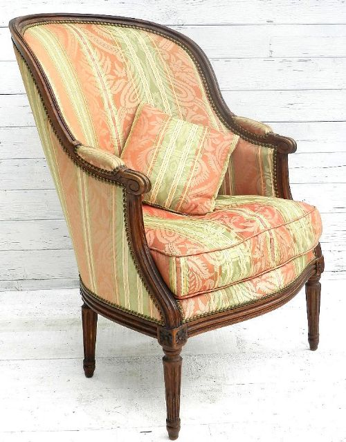 Superb French Bergere Fauteuil Armchair Louis Xvi Rev | 186495 ...