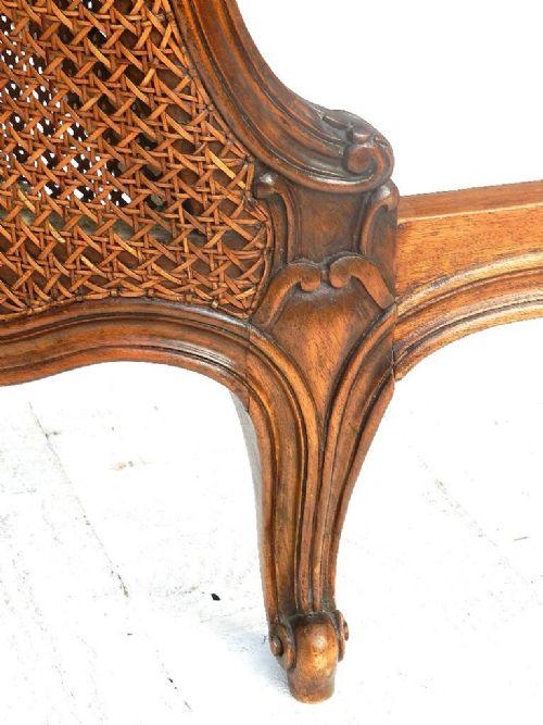 superb french bergere double bed base louis xv rev cane lit corbeille 186742. Black Bedroom Furniture Sets. Home Design Ideas