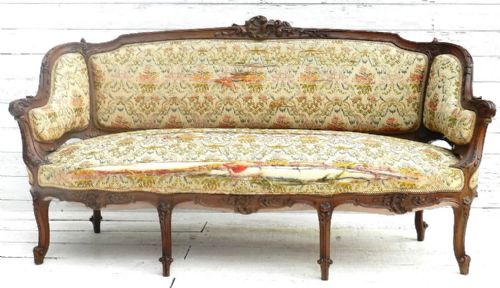 Superb c19 louis xv french sofa settee canape 189371 for Louis xv canape sofa