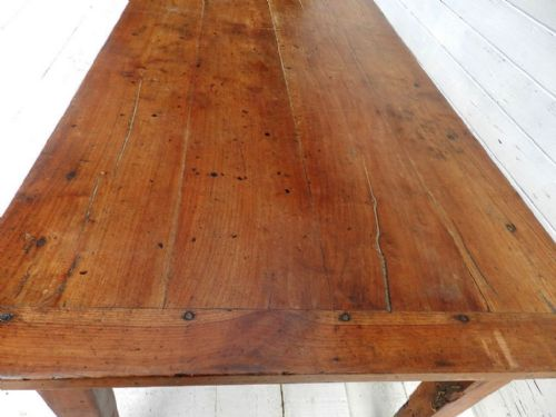 good solid cherry wood c19 french provincial dining table farmhouse