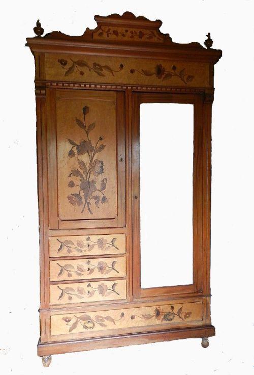 stunning rare art nouveau french armoire compactum ecole. Black Bedroom Furniture Sets. Home Design Ideas