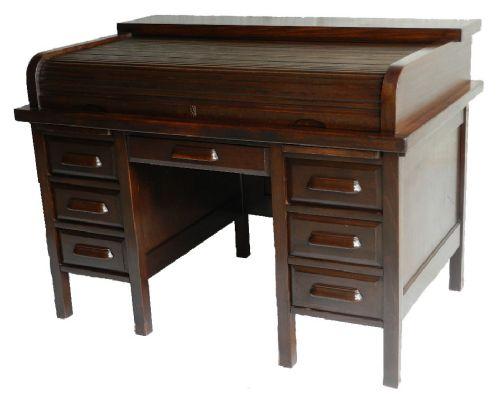 good vintage roll top bureau desk american office 208562. Black Bedroom Furniture Sets. Home Design Ideas