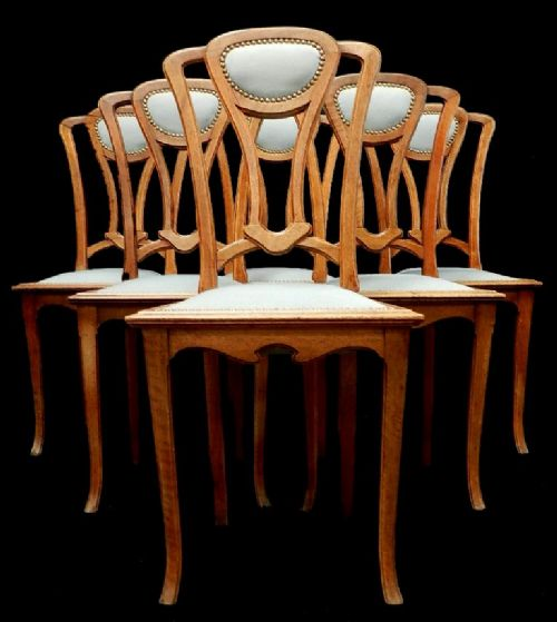 Handsome Set Of 6 French Art Nouveau Dining Chairs School  : dealertrystdamourfull1369176868945 1326880824 from www.sellingantiques.co.uk size 500 x 559 jpeg 38kB