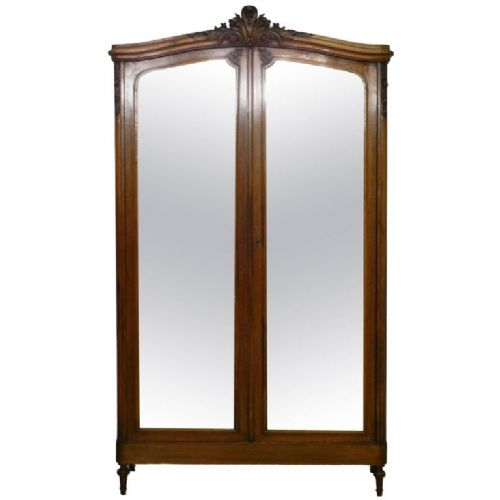 french armoire 19th century louis mirror door