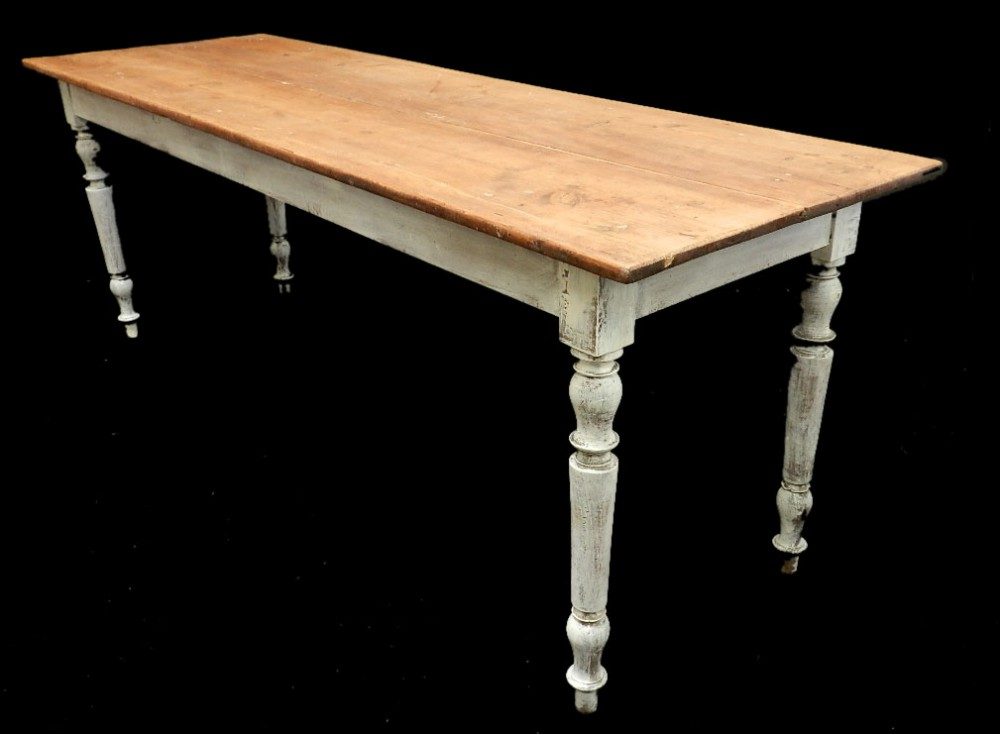French Farmhouse Kitchen Table 2m long c19 french farmhouse scrub top dining table pine kitchen