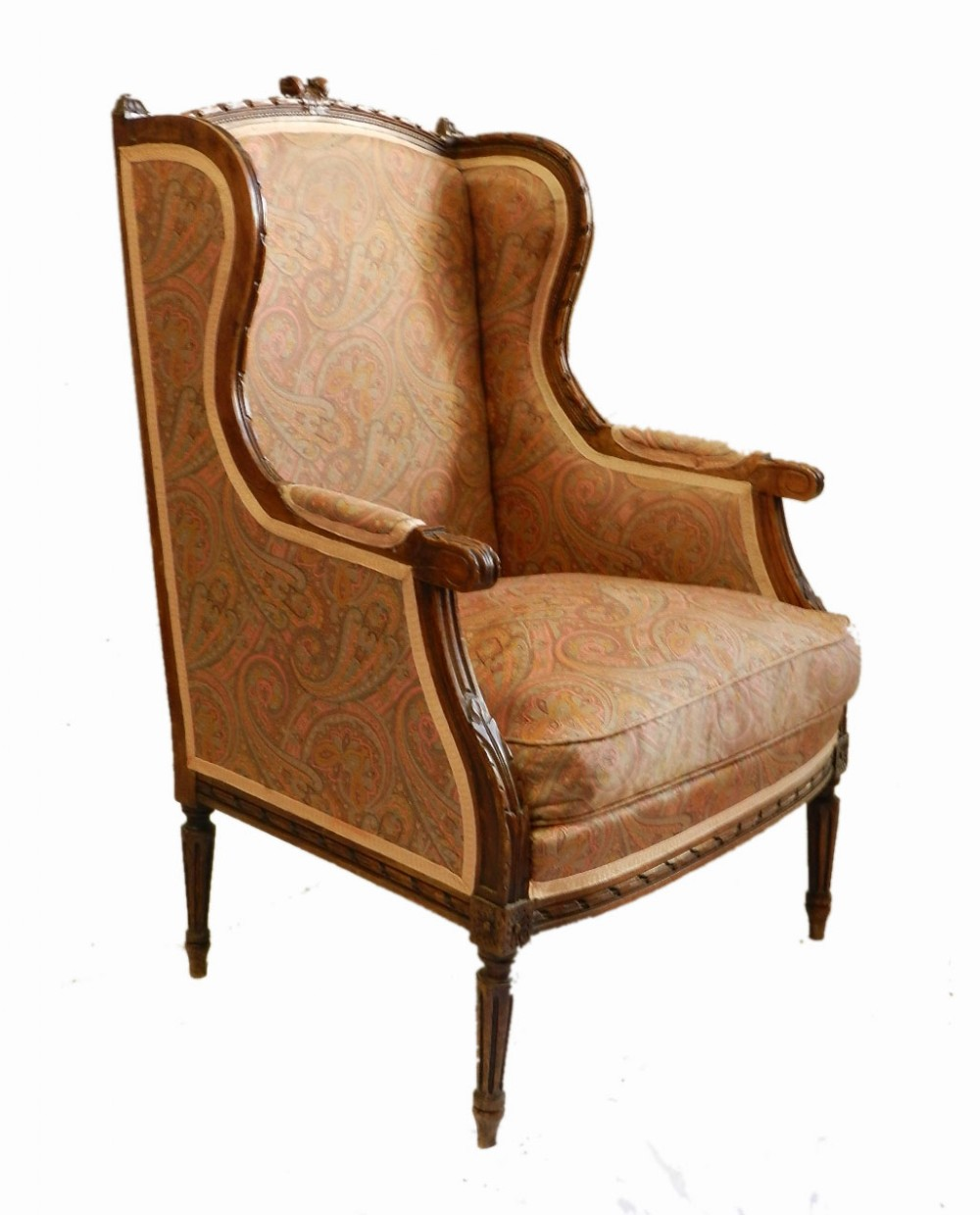 french bergere armchair c19 louis xvi st wing chair 389647. Black Bedroom Furniture Sets. Home Design Ideas
