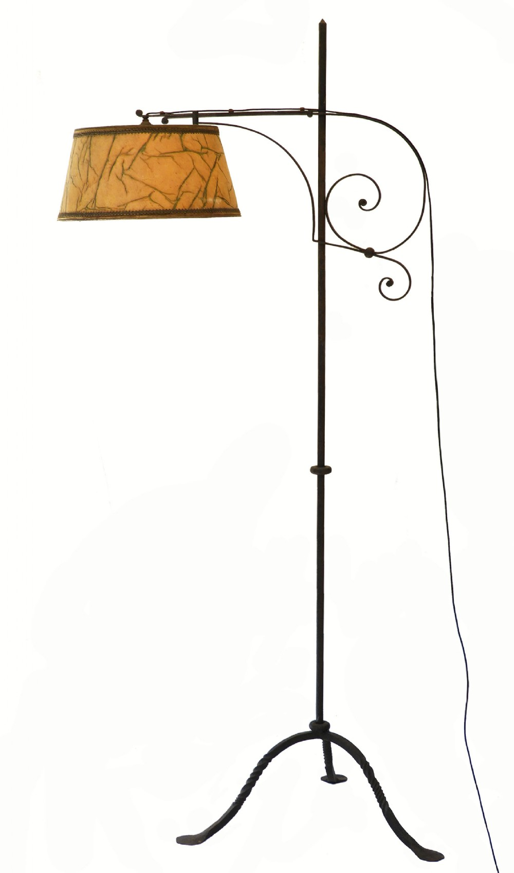 Arts And Crafts Floor Lamp Adjustable Wrought Iron 492501 Sellingantiques Co Uk
