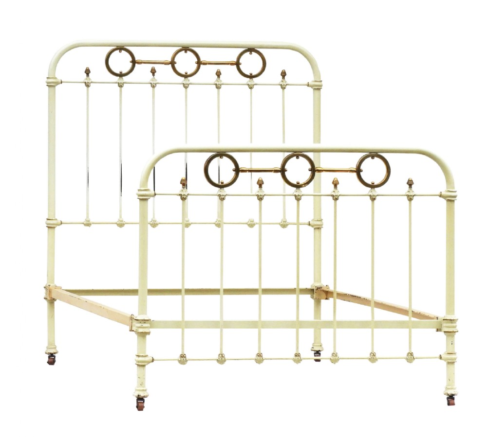 french brass and iron bed 19th century original paint