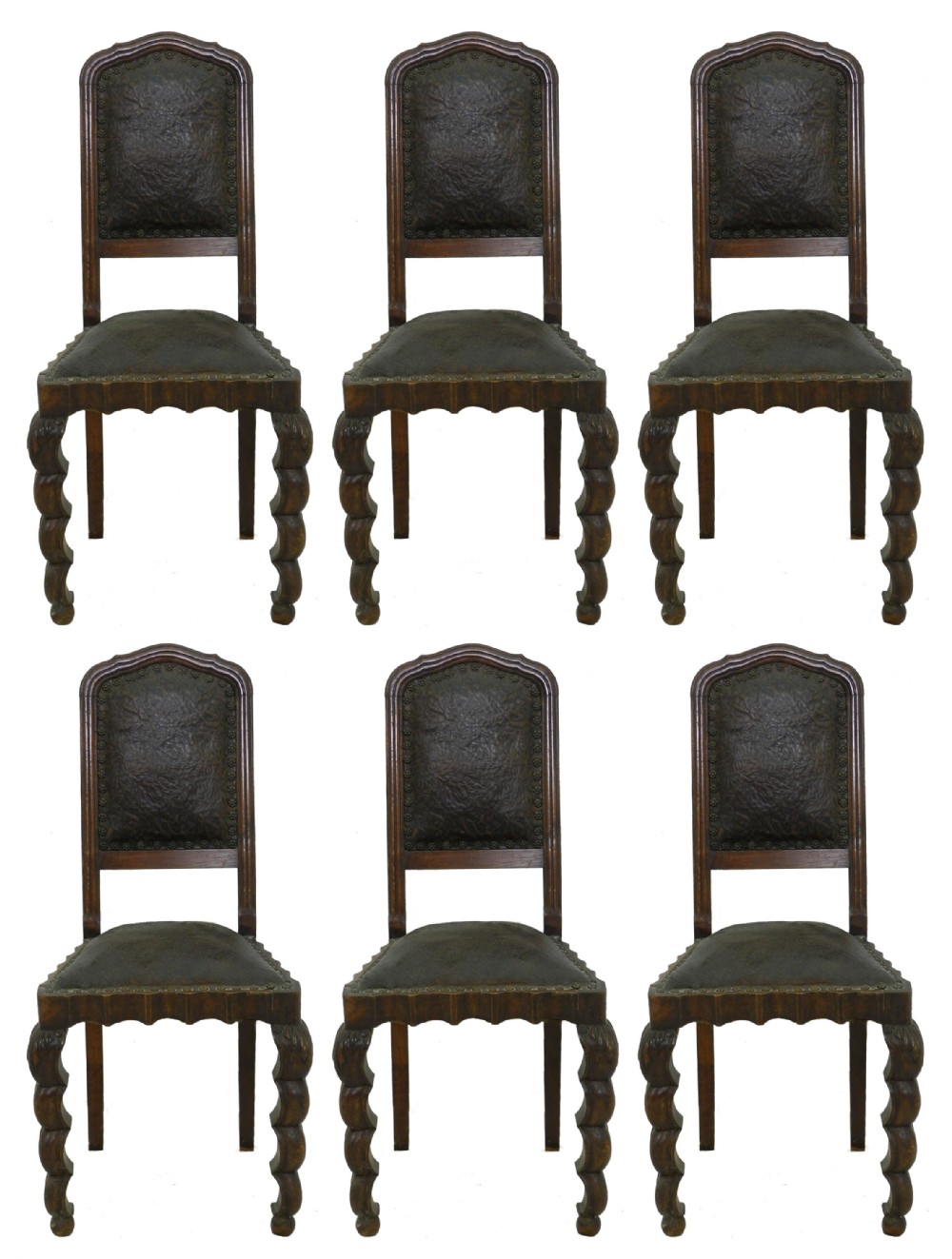 six art nouveau dining chairs italian c1910 walnut