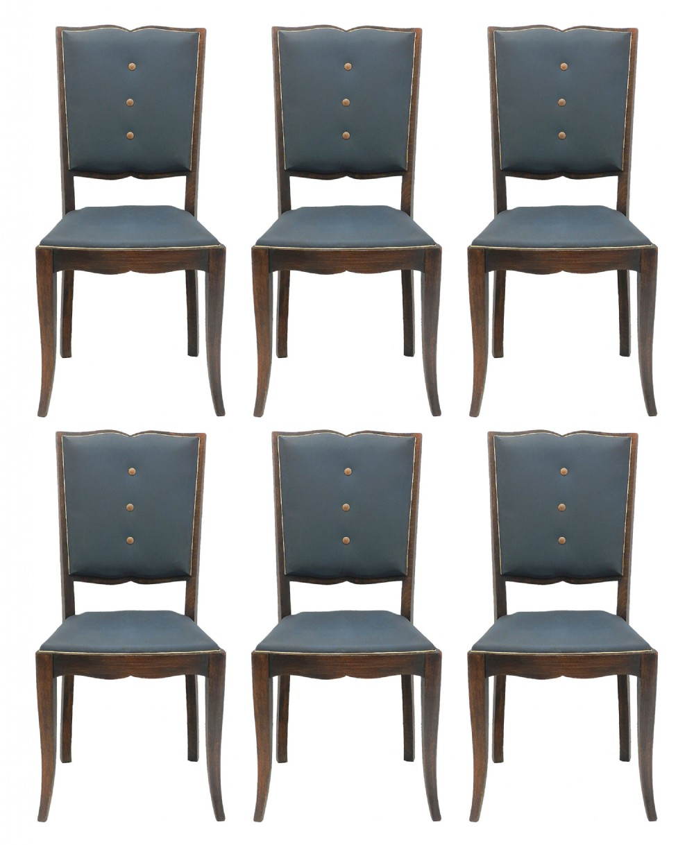 six art deco dining chairs moustache back to restore recover french c1930