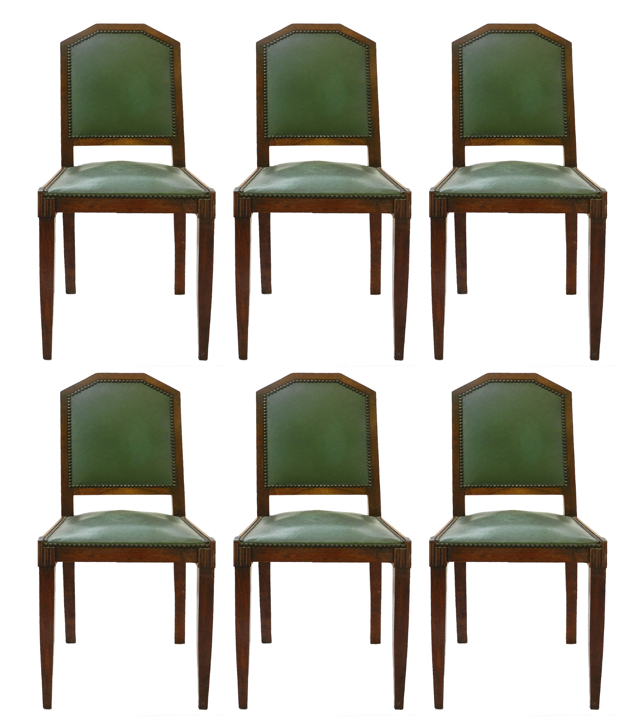 six art deco dining chairs french c1930 includes recovering