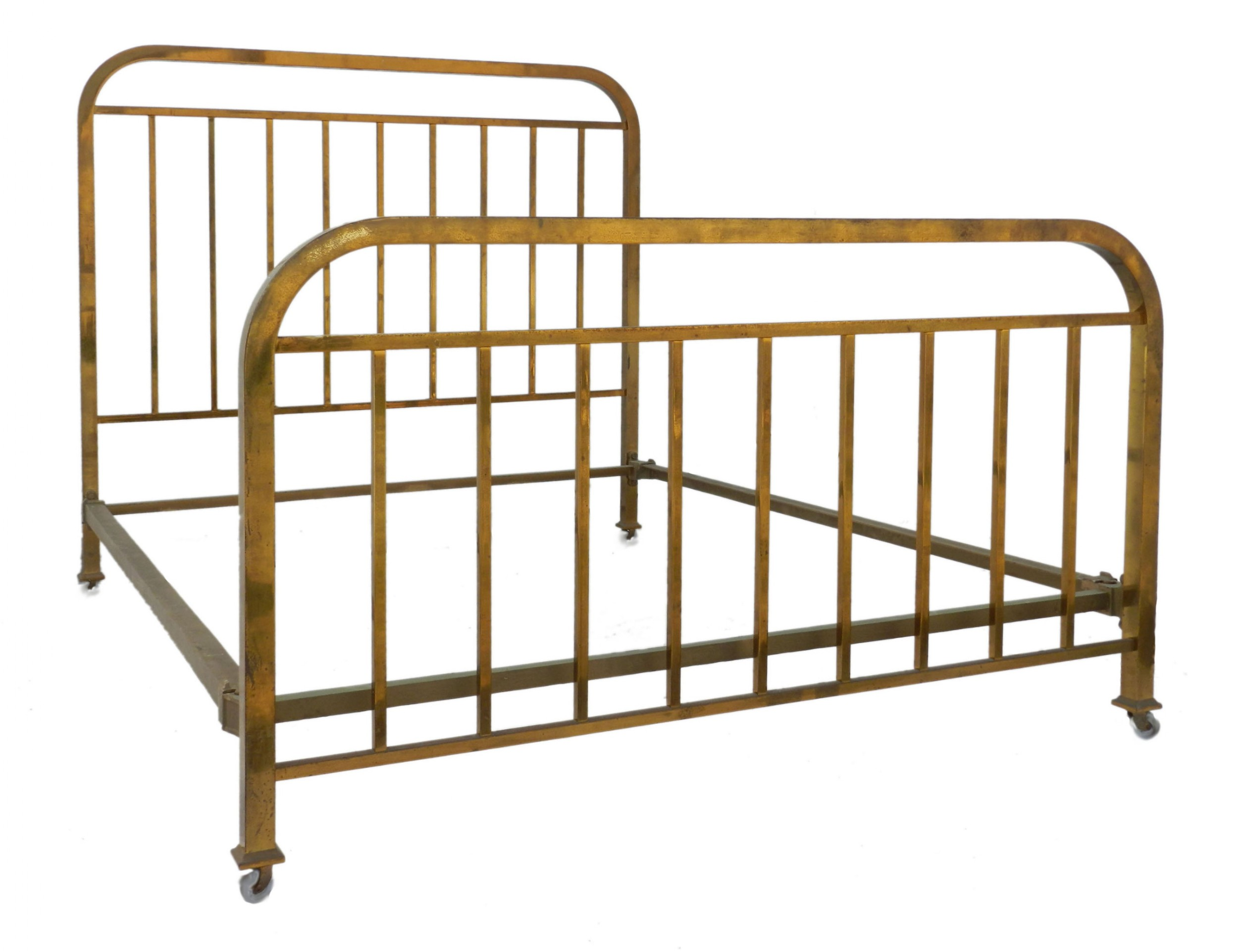 art deco brass bed uk king us queen size french c1930