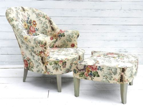 Glorious french duchesse brisee fauteuil armchair foot - Chaise campagne chic ...