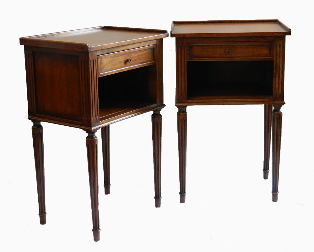 Pair french side cabinets nightstands bedside tables for Nightstands and bedside tables