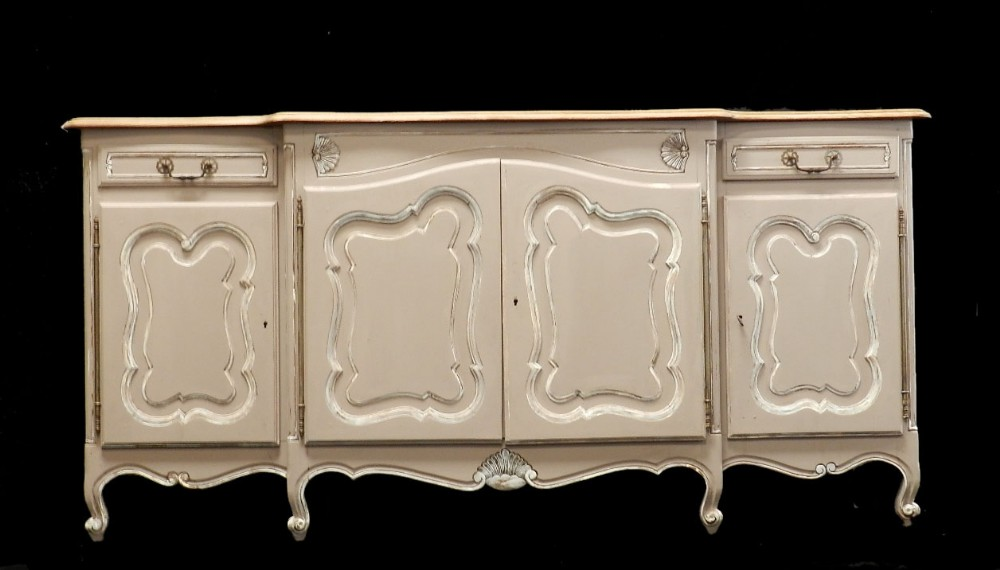 superb early vintage french louis enfilade painted buffet. Black Bedroom Furniture Sets. Home Design Ideas