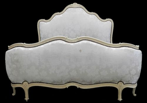 Superb french vintage louis xv rev lit corbeille double for Lit louis xv