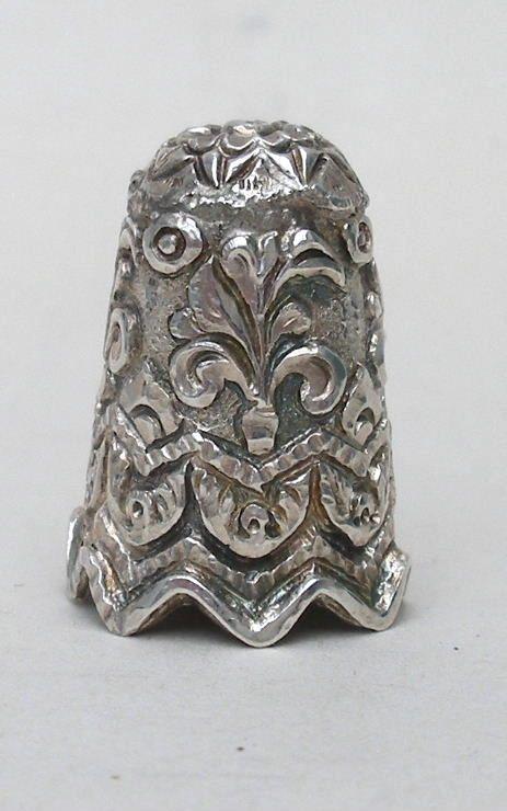 thimble indian silver antique
