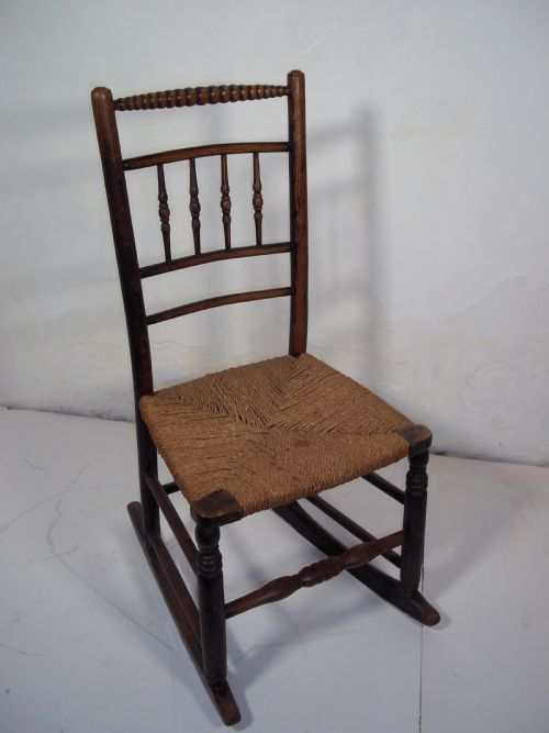 ROCKING CHAIR. £135. Dated Georgian - Antique Rocking Chairs - The UK's Largest Antiques Website