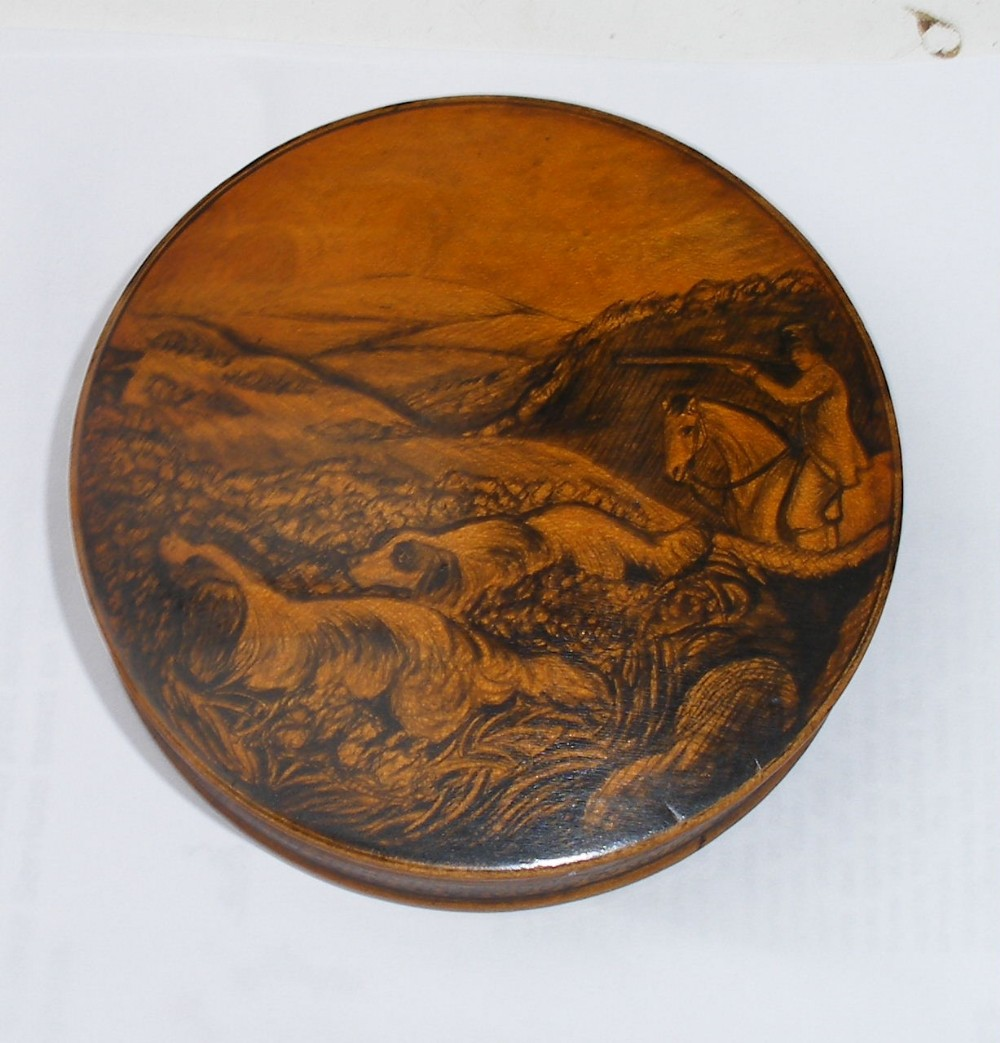 pen and ink work mauchline antique snuff box