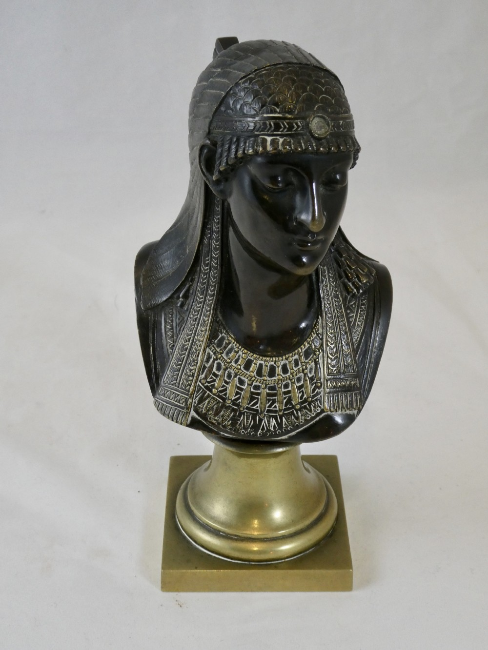 19th century bronze bust