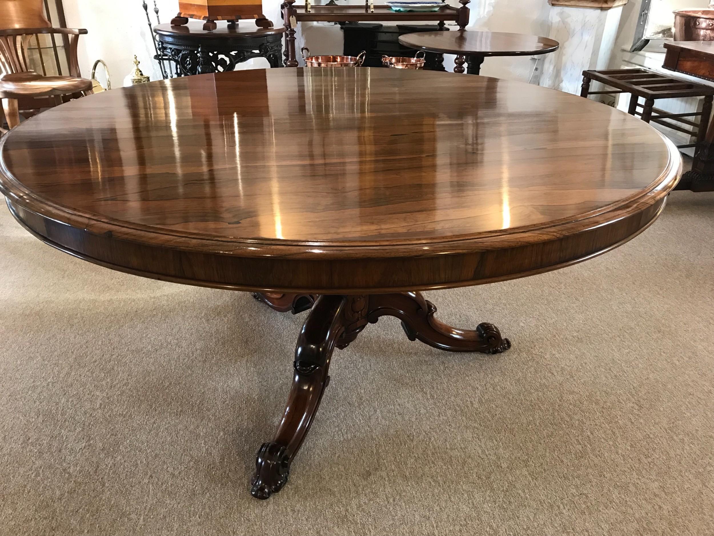 regency rosewood circular tilt top centre table