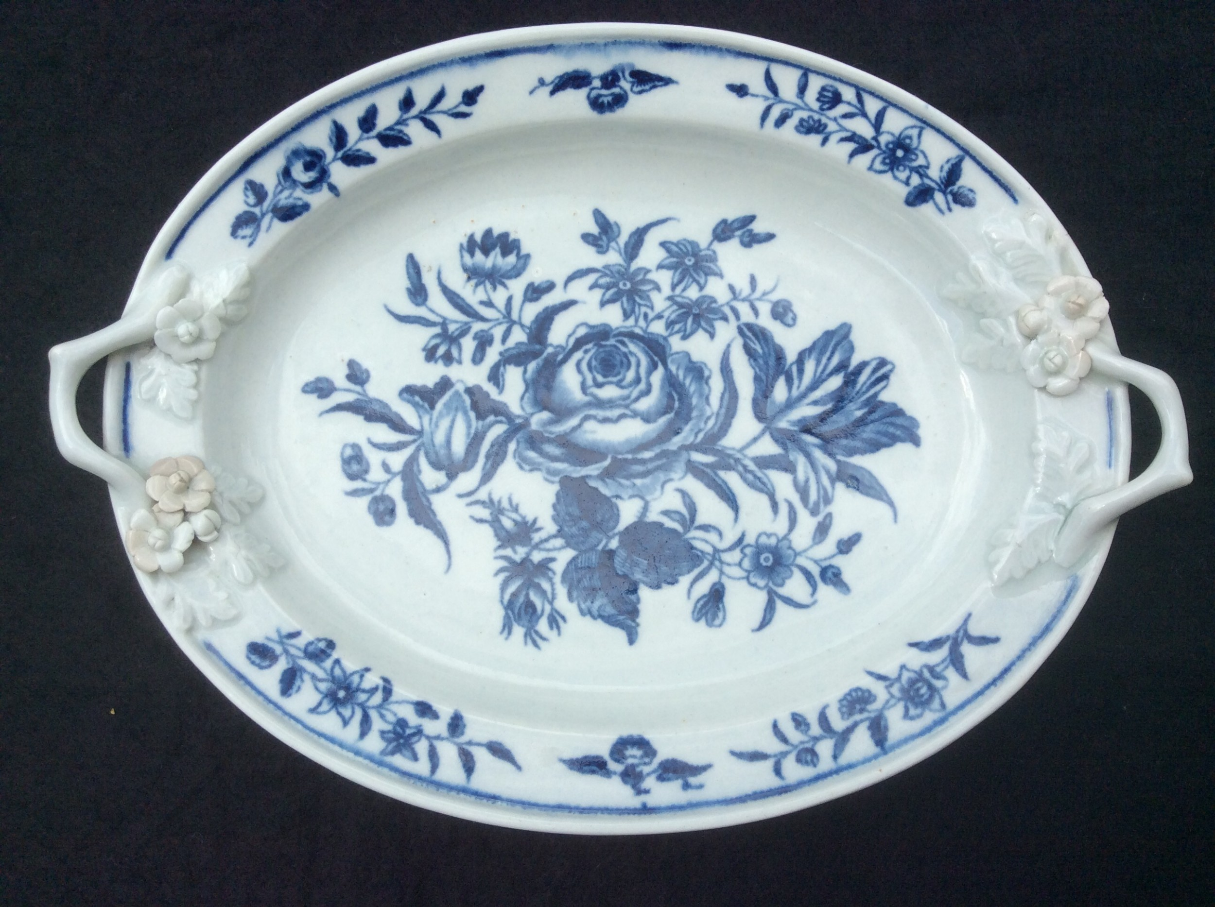 first period worcester rose pattern dish