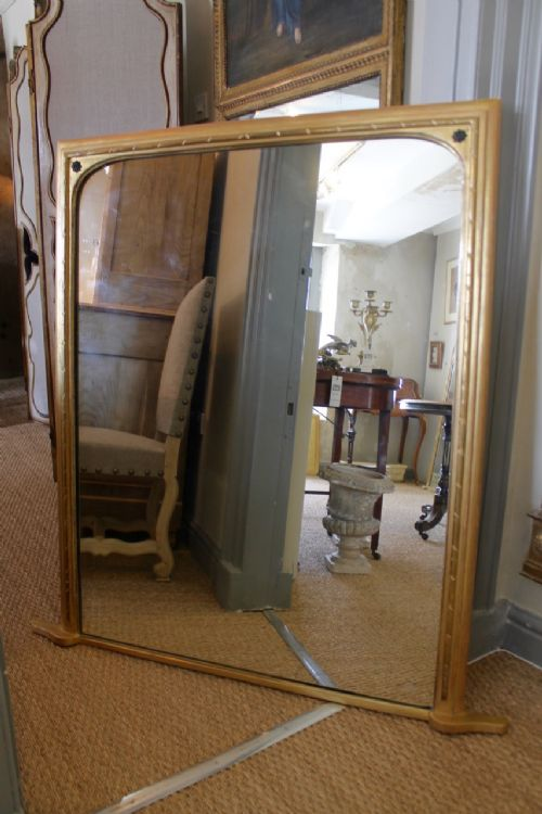 english nineteenth century squaretop overmantel mirror