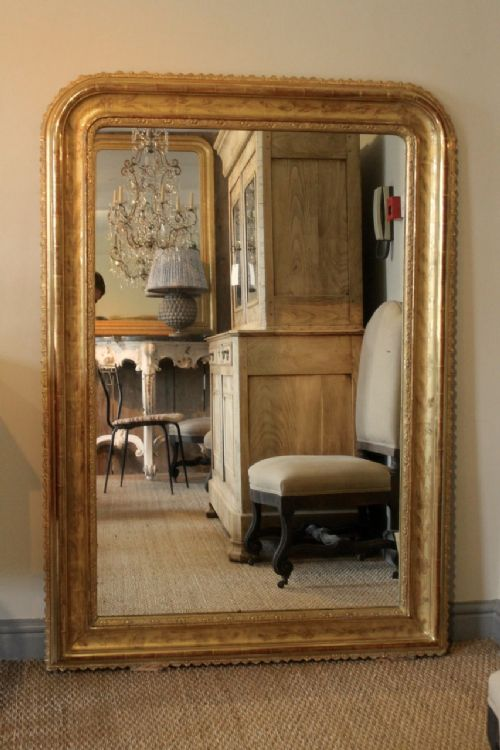 large french highly decorative louis philippe style mirror