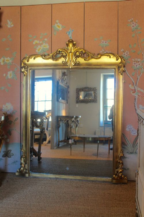 a stunning large carved wood william iv overmantel mirror