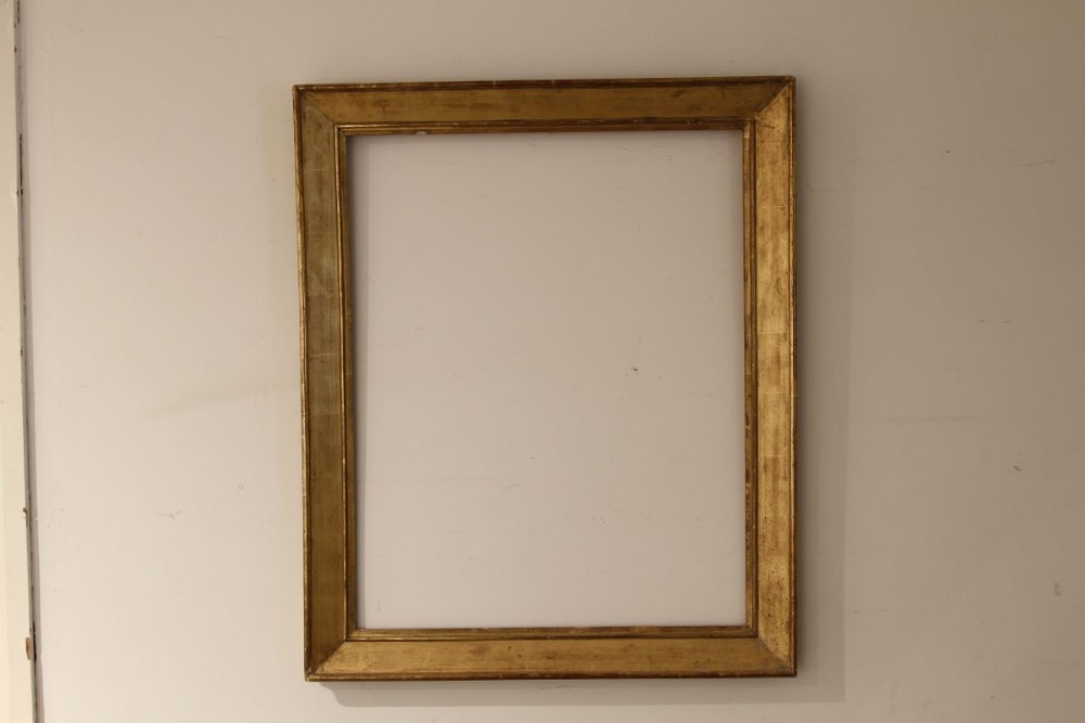 a french c19 plain moulded frame one of a pair