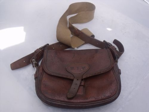 Good Quality Vintage Leather Army Navy Shotgun Cartridge Bag