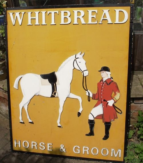 Thumbnail picture of: C1940s METAL HANGING PUB SIGN WHITBREAD BREWERY