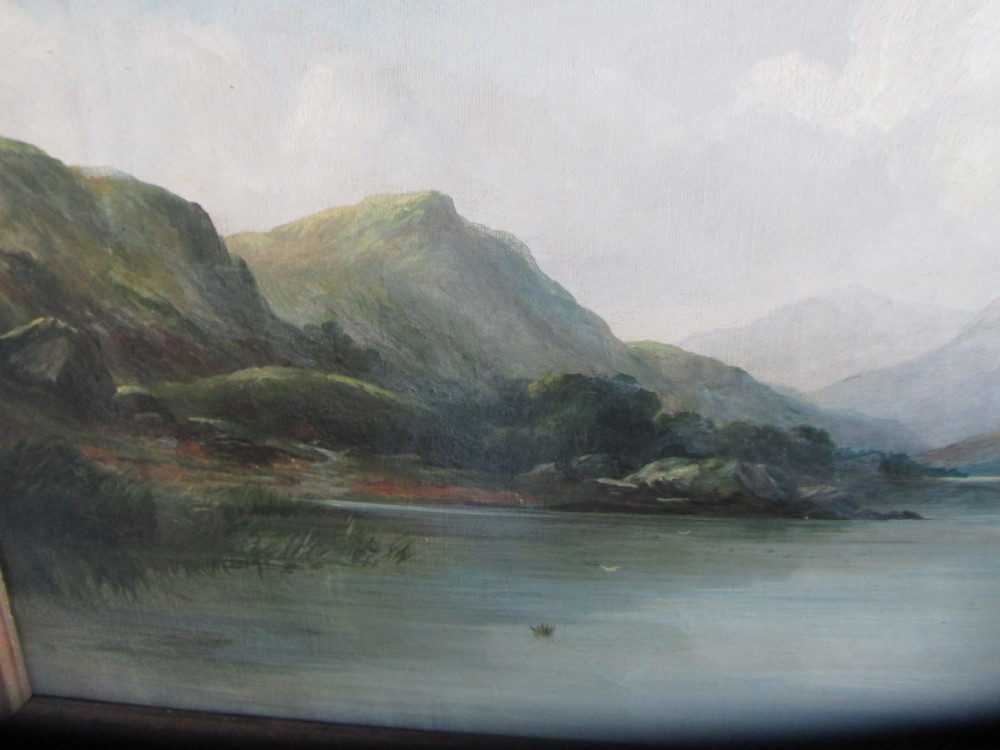 John blair scottish 1850 1934 original oil painting for Loch lomond fishing