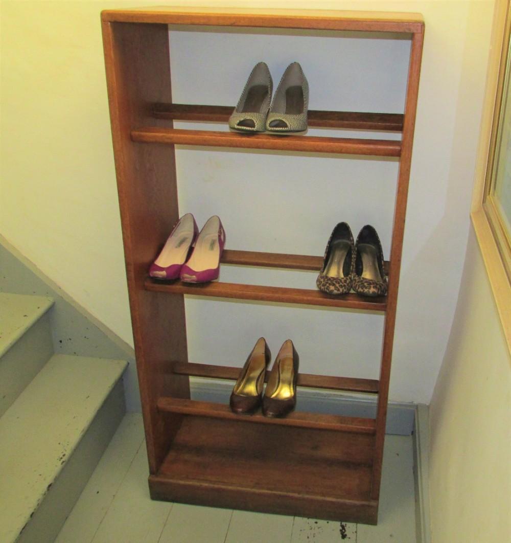 c1920s shop shoe display cabinet