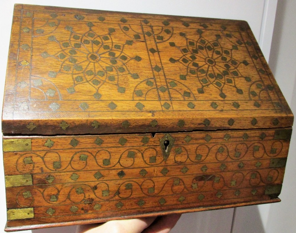 c1890 1910 colonial correspondence box stationary box