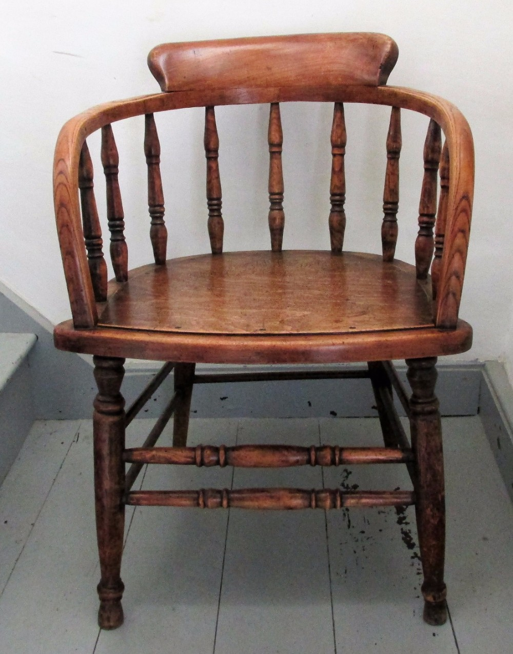 c19th ash elm captains chair