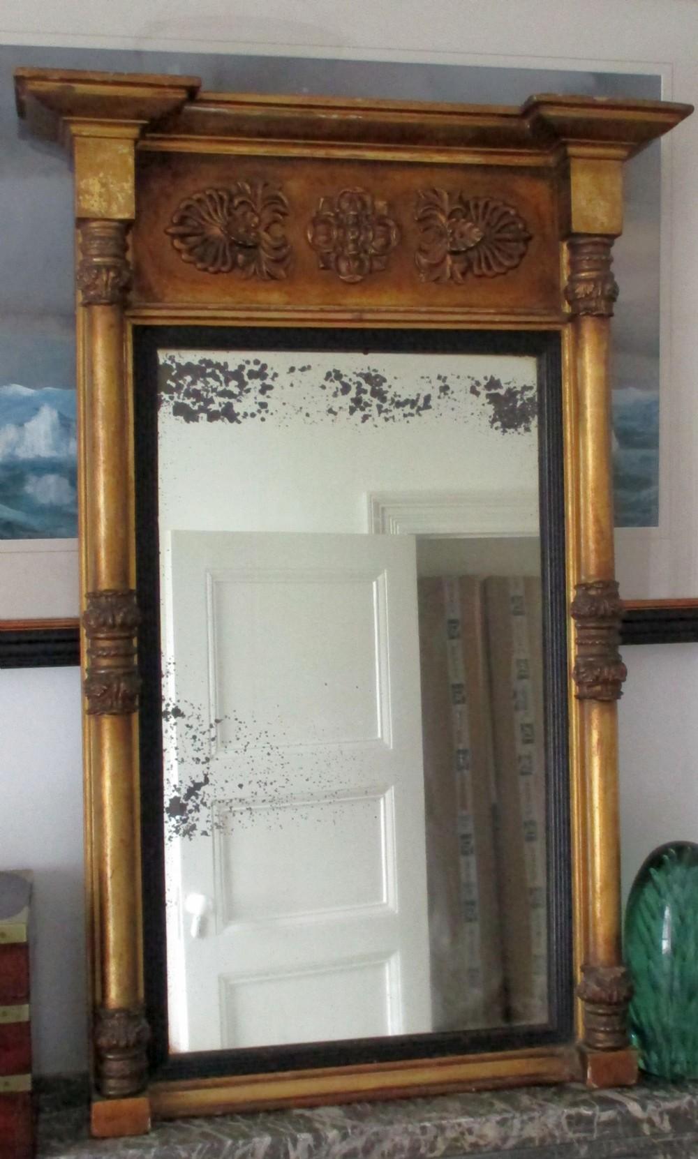 english regency giltwood pier mirror