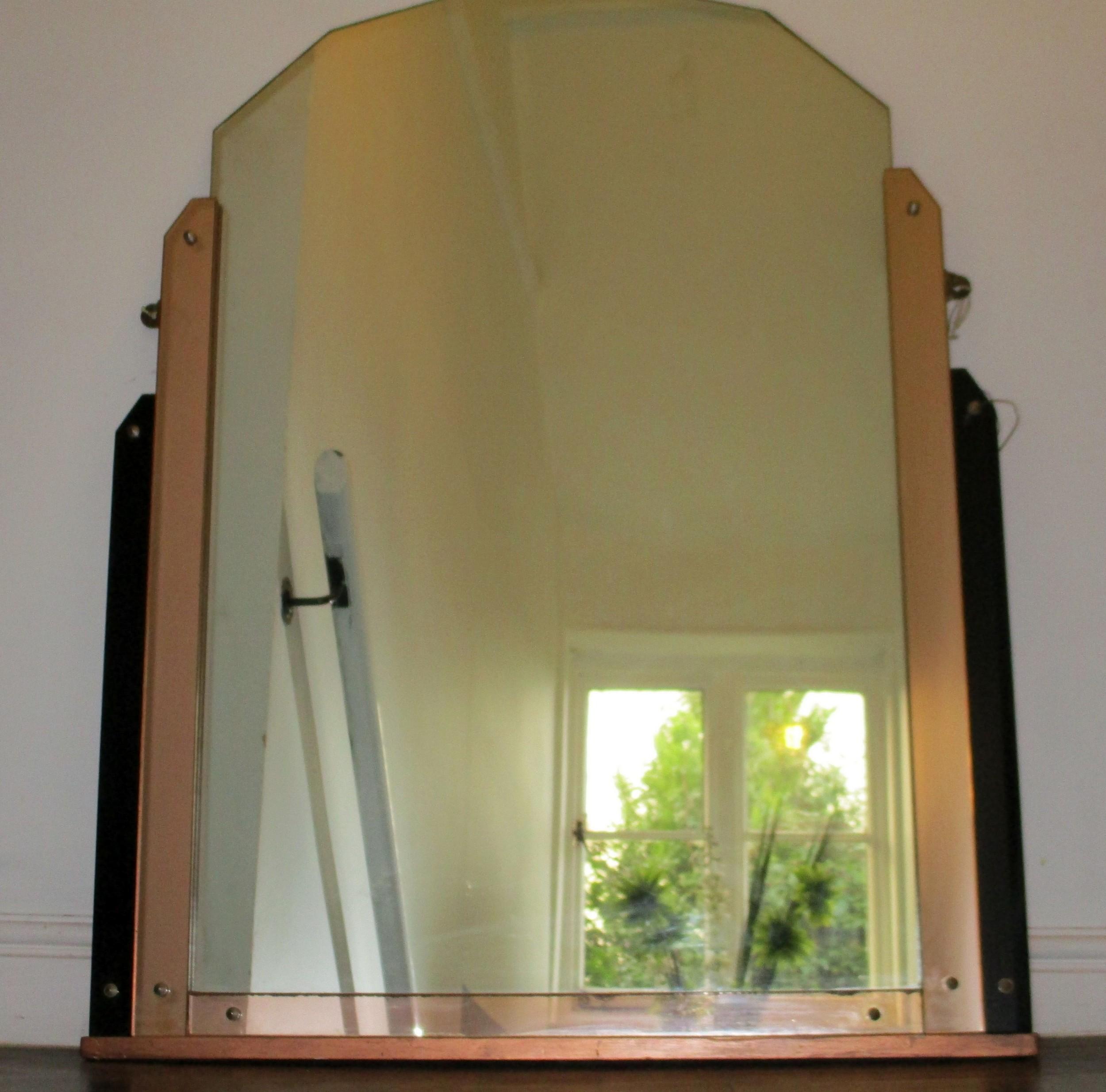 Large Odeon Style Art Deco Mirror 585364 Sellingantiques Co Uk