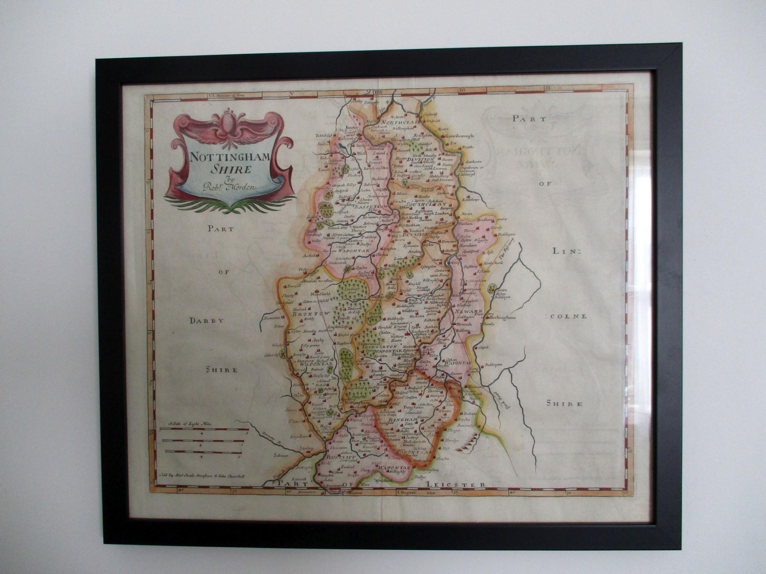 c1700 morden map of nottinghamshire